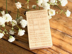 Japanese Wooden Rubber Stamp - Vintage / Antique Management Sheet Stamp