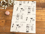 YOHAKU Original Collage A4 Wrapping Paper - Monochrome