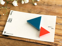 Die-cut Sticky Index Tabs / One Point Sticker - Red and Blue Triangles