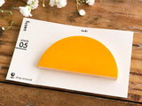 Die-cut Sticky Index Tabs / One Point Sticker - Yellow Semi Circle