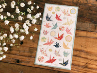 Tradtional Japanese Style Sheet of Sticker - Origami Crane