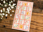 Tradtional Japanese Style Sheet of Sticker - Square Little Flowers
