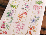 Tradtional Japanese Style Sheet of Sticker - Four Season Flowers
