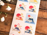 Sheet of Sticker - Tradtional Japanese Mountain Fuji