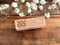 Japanese Wooden Rubber Stamp - Vintage style Line Stamp
