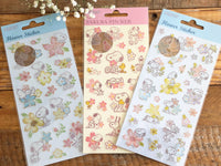 Sheet of Stickers / Snoopy & Flowers masking cleak stickers with foil stamped
