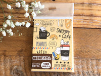 Snoopy Collection Die-Cut One Point Sticker / Index / Bookmark / Sticky Memo - Bread