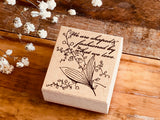 Botanic Wooden Stamp - Lily Of the Valley for Art Journaling, Snail Mail, Packaging, Scrapbooking