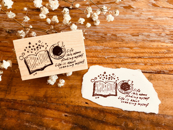 Nonnlala Original Rubber Stamp - Cafe Time