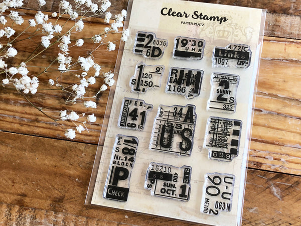 Papier Platz x Sunny Sunday Clear Stamps - Number Collages