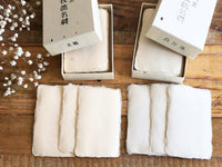 "Japanese ""Tesuki"" Handmade Notecard Set with Deckle edge 50 cards per box - Unbleached"