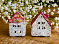 "Lovely one-of-a- kind handmade clay house from ""Casetta"" - Rainbow-colored Brick House"