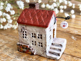 "Lovely one-of-a- kind handmade clay house from ""Casetta"" - Cafe"