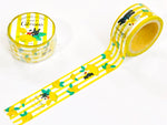Gaspard et Lisa Japanese Washi Masking Tape - Lemon Stripes
