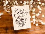 Nonnlala Original Rubber Stamp - Happy Girl
