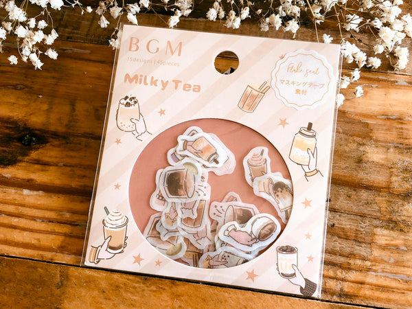 Japanese Washi Masking Stickers / Seal bits - Tapioca Tea