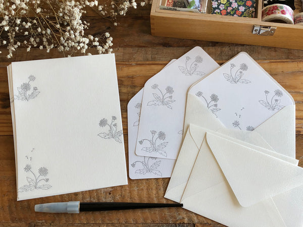 High Quality Botanical Garden Letterpress Letter Set - Dandelion