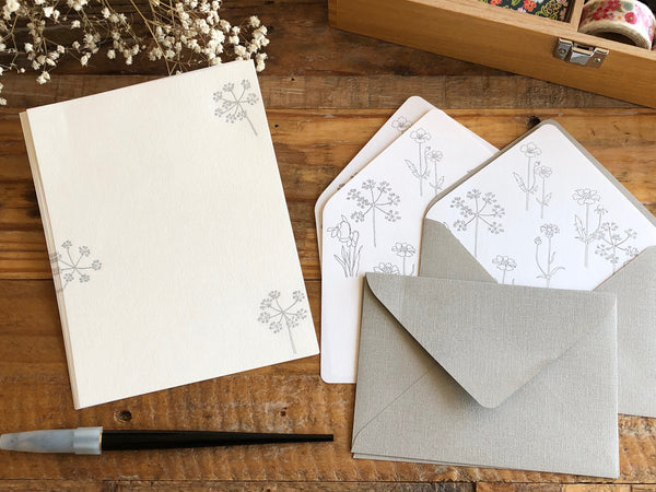 High Quality Botanical Garden Letterpress Letter Set - Spring Flowers