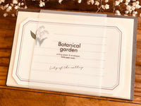 High Quality Botanical Garden Letter Set - Lily of the Valley