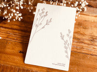 High Quality Botanical Garden Letterpress Postcard - Pussy Willow