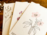 High Quality Botanical Garden Letterpress Postcard - Wild Pancy