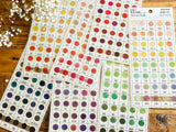 Tracing Sheet of Stickers / Japanese Color Swatchs - Blue