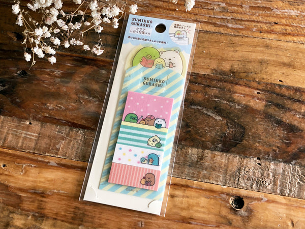 Sumikko Gurashi Bookmark style Clear Stick it / Post it / Sticky Note