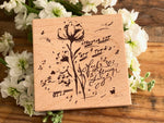 Meow / Beech wood stamp - Feel the flower sing