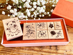 Meow / Autumn collection – Wild berries and bear stamp set (set of 7)