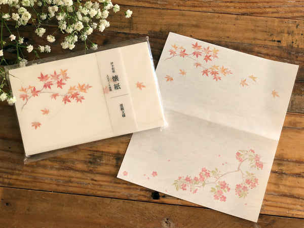Japanese Kaishi Paper / Cherry blossoms & Autumn leaves