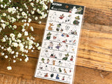 Clear Sheet of Stickers / Moomin & Friends 4 Size Stickers