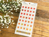 Tracing Sheet of Stickers / World Color Swatchs - Citrus Candy