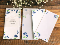 Japanese Paper Letter set with envelope - Blueberries