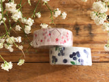 Botanical Garden Japanese Washi Tapes - Blue Berries
