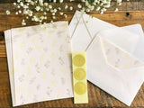 High Quality Botanical Garden Letterpress Letter Set - Yellow