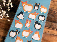 "Sheet of Stickers- ""Corgi"" buttock from POMPON HiPS"