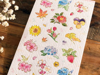 Tradtional Japanese Style Sheet of Sticker - Four Seasons
