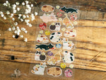 Traditional Japanese Style Masking Sheet of Sticker - Japanese Cat