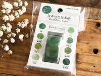Tracing Sheet Sticker Roll / Japanese Color Swatchs - Green