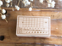 Japanese Wooden Rubber Stamp - Vintage / Antique Weekly Weight Graph Stamp