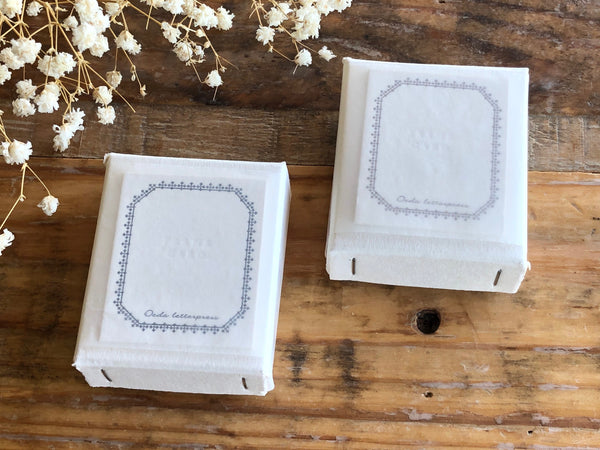 Oeda Original Letterpress FRAME mini card Box