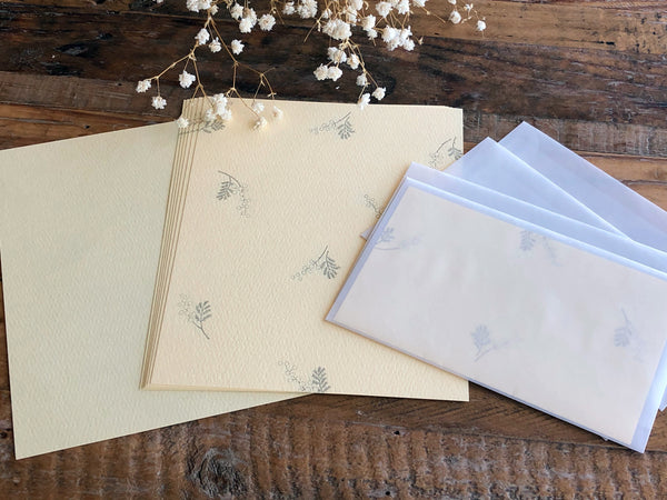 High Quality Botanical Garden Letterpress Letter Set - Mimosa