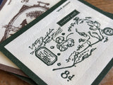OURS Original Letterpress stamp stickers - In the Garden