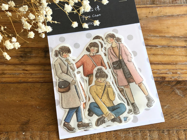 Pointdiary Original Gril Sticker Pack - Brown