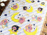 Sheet of Sticker / kanahei's small animals clear stickers with gold foil stamped