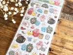 Sheet of Sticker / kanahei's small animals clear stickers