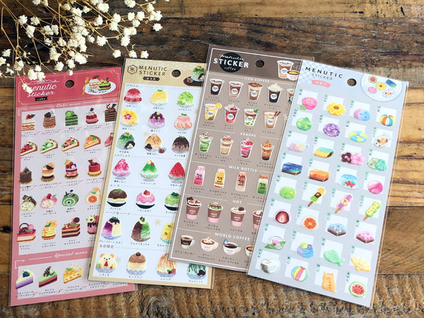 Sheet of Stickers -  Menu-like Series