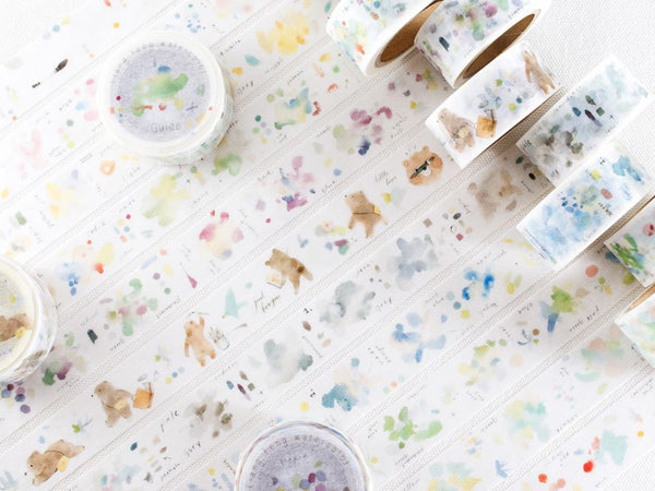 Japanese Washi Masking Tapes - Little Path x Liang Feng Watercolor Encyclopedia Vol.2