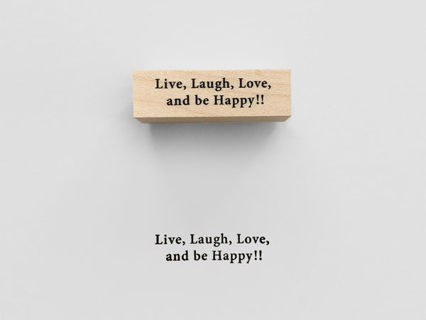 KNOOP Original Rubber Stamp - Live, Laugh, Love and be happy