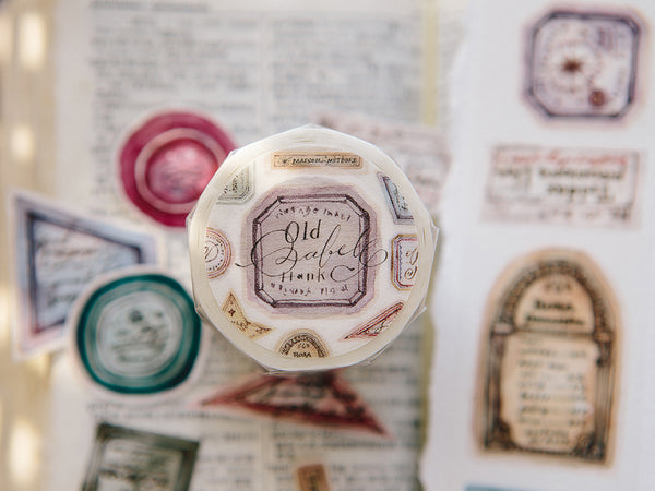 OURS Watercolor Washi Tape / Old Labels